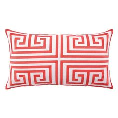 I pinned this Greek Key Embroidered Pillow in Melon from the Trina Turk & D.L. Rhein event at Joss & Main!