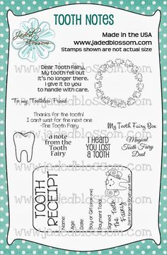 Jaded Blossom: Release day 4 - Tooth Fairy!! Very cute!
