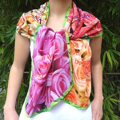"""Shawl """"Roses"""", from the Nature Collection...more at http://inekeottejewelry.com/"""