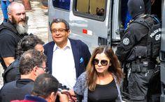 Publicitário João Santana e sua mulher, Mônica Moura, foram presos na Operação Acarajé  http://ultimosegundo.ig.com.br/politica/2016-07-21/marqueteiros-confessam-que-receberam-us-45-mi-de-caixa-2-de-campanha-de-dilma.html