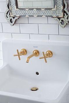 brass bathroom details