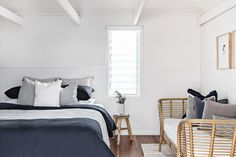 Our property - Cape Beach House Bed & Breakfast Byron Bay — Cape Beach House Byron Bay Bedroom Inspo, Home Bedroom, Bedrooms, Bedroom Ideas, Master Bedroom, White Wash Walls, White Sheets, Stylish Beds, House Beds
