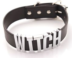Cheap women choker, Buy Quality choker hook directly from China women trunk Suppliers: Witch Necklace Witch Choker Witch Collar Women Choker For Cosplay Big Letters