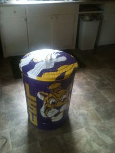 Fishing Other • Hand Painted LSU Trash Cans and Mailboxes - Louisiana Sportsman Classifieds, LA