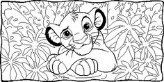 Lion Simba coloring page from The Lion King category. Select from 25683 printable crafts of cartoons, nature, animals, Bible and many more.