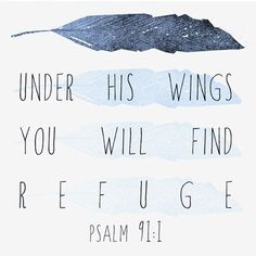 Under his wings...