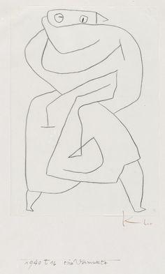 """""""A disguised woman"""" - Paul Klee - 1940"""