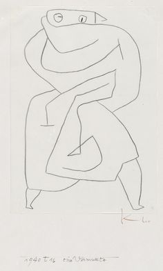 """A disguised woman"" - Paul Klee"