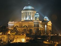 Basilica of Esztergom, Hungary Places Around The World, Around The Worlds, Austria, Hungary Travel, Paradise Travel, Europe Holidays, Heart Of Europe, Chapelle, Central Europe