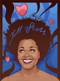 Natural Hair Art of Jill Scott