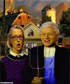 ‍♀️‍♀️‍♂️American Gothic Parody ‍♂️‍♂️‍♀️More Pins Like This At FOSTERGINGER @ Pinterest ‍♀️
