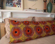 BODY Lounge Pillow: African Wax Print (Vintage Citrus). $80.00, via Etsy.