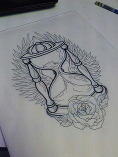 ... Body Art Tattoo Sketch Inspiration Men S Tattoos Winged Hourglass