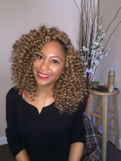 Crochet Braids Natural Hairline : Crochet braids Natural hair Braids Protectivestyle Big hair