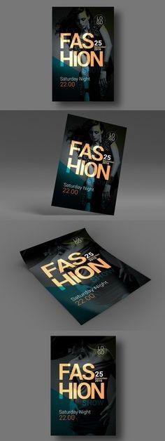 Vintage Fashion Flyer Vintage, Flyer printing and Print templates - fashion design brochure template