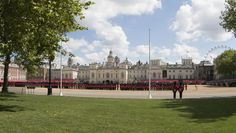 Trooping the colour at Horse Guards Parade. - Rehearsal for Trooping the colour at Horse Guards Parade in London to mark the Queen's official birthday. There are two further rehearsals  scheduled for 28 May and 4 June before the actual event on 11 June.