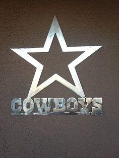Dallas Cowboys Star Wall Art  NFL by IronBlackSheep on Etsy, $27.00