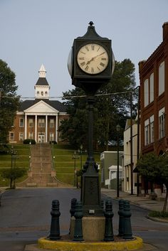The Clock and the Courthouse in downtown Cape Girardeau, Missouri by Cape Girardeau Convention and Visitors Bureau, via Flickr