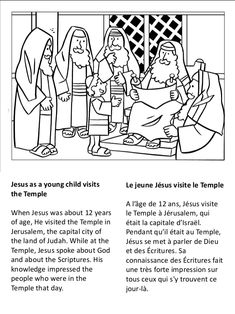 Life of jesus coloring book - 耶稣的生活着色书 Bible Coloring Pages, Coloring Books, Temple In Jerusalem, Bible Crafts, Diy Crafts, Sunday School, Kids And Parenting, Children, Recycling
