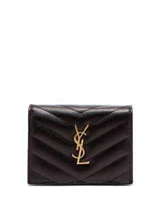 01d1730c0daf6 Saint Laurent Monogram leather purse Leather Purses, Monogram, Saints,  Women Wear, Bags