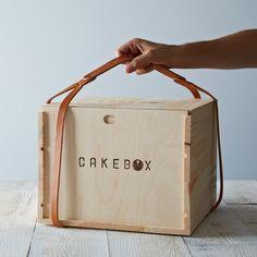 cake box at / sfgirlbybay Food Packaging, Brand Packaging, Packaging Design, Product Packaging, Packaging Ideas, Wooden Box Designs, Olive Oil Cake, Best Banana Bread, Box Cake