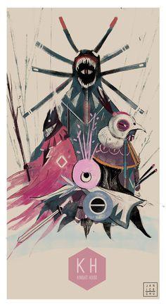 Knight Hood Poster, Janice Chu on ArtStation at https://www.artstation.com/artwork/knight-hood-poster