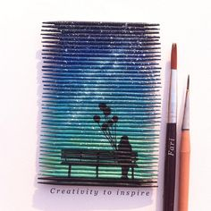 """4,446 Likes, 55 Comments - Sapphire (@creativity_to_inspire) on Instagram: """"Painting on toothpicks....."""""""
