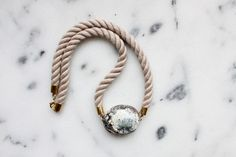 Twisted rope and marble necklace by @the vamoose