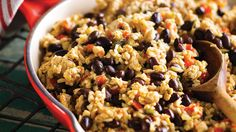 Healthy flavorful rice and beans recipe