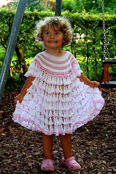 Ravelry: White Cascades Dress for a Little Girl pattern by Svetlana M...free pattern
