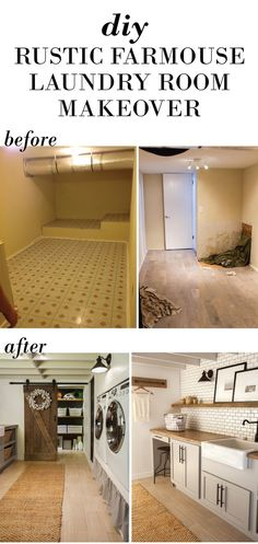 A windowless storage room converted into a dream farmhouse laundry room on a DIY budget!