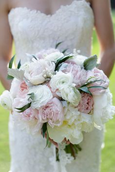 Romantic Peony Bridal Bouquet | Alders Photography | TheKnot.com