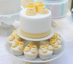 Baby booty cake and cupcakes