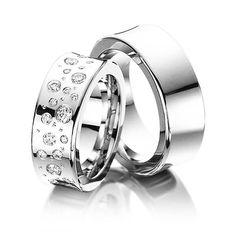 Ausgefallene diamantringe  ausgefallene Trauringe aus 585 Weiss und Gelbgold PB137275 ...