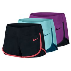 Train for your next great match in the Nike Women's Court Tennis Short! It features built-in shorts for secure ball storage, 2-way spandex for excellent range of motion and Dri-FIT fabrication to help wick away sweat. Sleek fit. As seen on tennis pro Victoria Azarenka!