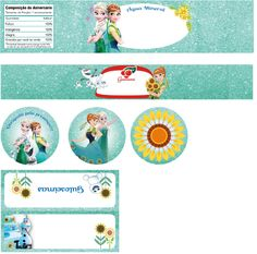 Kit Grátis Frozen Febre Congelante  Free Printable Frozen Fever (in Portuguese, contact me if you need it available in English)  #FrozenFever #CrieSuaFesta #FreePrintable