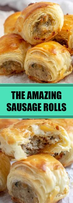 me: Easy Sausage Rolls Homemade Sausage Rolls, Easy Sausage Bread Recipe, Best Sausage Roll Recipe, Chicken Sausage Rolls, Sausage Rolls Puff Pastry, Rolls Recipe, Party Guests, Food And Drink, Cooking Recipes