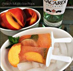 Peach mojito popsicles - For the beach!