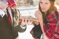 There's only one way to end a wedding on skates at the Rideau Canal...with BeaverTails pastries!