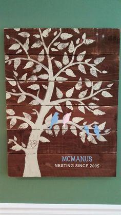 Have each guest stamp leaf on lovebird sign at wedding!