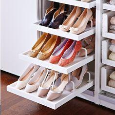 30 Ideas Bedroom Closet Organization Ikea Shoe Storage - Image 3 of 23 Master Closet, Closet Bedroom, Closet Space, Walk In Closet, Bedroom Decor, Bedroom Storage, Ikea Bedroom, Shoe Rack Bedroom, Double Closet