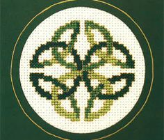 St Patrick's Day is a huge celebration in Ireland and for Irish folk across the globe. Mark the day with a bold Celtic knot and stitch it while enjoying half a Guinness and a beef stew! You will need: Cream 14-count Aida, 4 1/2 x 4 1/2in (11 x 11cm) Green double-fold card with a…