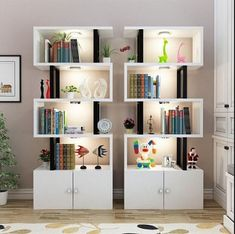 Simple student bookcase Bookshelf shelf shelf for cosmetics products showcase display creative shoe rack wood shelves Bookshelf Design, Wall Shelves Design, Wood Shelves, Floating Shelves, Home Decor Furniture, Furniture Design, Wall Shelf Decor, Home Room Design, Decor Room
