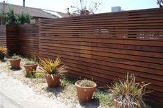 (to be modified) Horizontal Modern Fence.