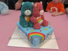 Awesome 3D Care Bears Cake... This website is the Pinterest of birthday cake ideas