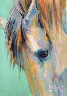 Moonlight Aura Equine Art Print by Marcia Baldwin. All prints are professionally printed, packaged, and shipped within 3 - 4 business days. Choose from multiple sizes and hundreds of frame and mat options. Horse Drawings, Animal Drawings, Watercolor Paintings, Original Paintings, Pastel Paintings, My Art Studio, Animal Paintings, Horse Paintings, Equine Art