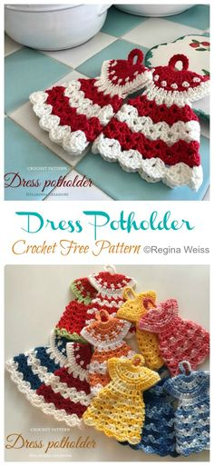 Dress Potholder Crochet Free Patterns - Crochet & Knitting Source by howtomakes dresses ideas Crochet Gratis, Knit Crochet, Drops Design, Crochet Chicken, Chicken Crochet Potholder, Knitting Patterns, Crochet Patterns, Free Knitting, Crochet Hot Pads