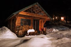 The Details of Luxury: Ymir's Logden Lodge Ymir, Skiing, Cabin, Luxury, House Styles, Ski, Cabins, Cottage, Wooden Houses