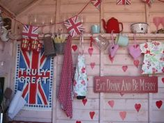 Beach hut interior