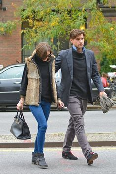 THE OLIVIA PALERMO LOOKBOOK: Olivia Palermo Out With Johannes Huebl